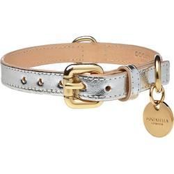 Dogatella Metallic Halsband Silver Nekmaat 50 - 60 cm