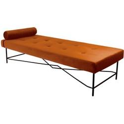 Kick Velvet Chaise Lounge - Puck - Oranje