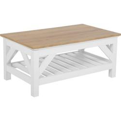 Salontafel wit/lichte houtkleur 100x60 cm SAVANNAH