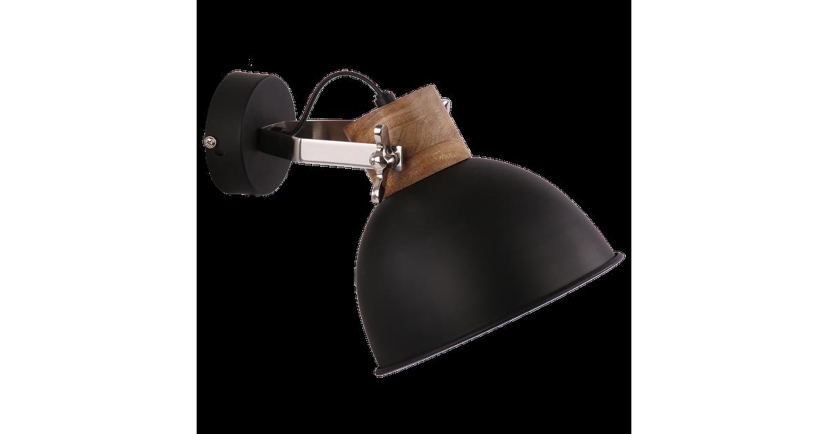 Wandlamp Fabriano groot Mat Zwart