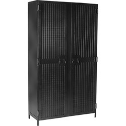 LABEL51 - Hoge Kast Gate 2-Deurs 100x40x180 cm - Industrieel - Zwart