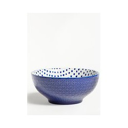 John Lewis & Partners Deep Spot Print Bowl, 20cm, Lapis