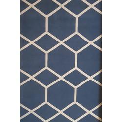 Handgemaakt Custom made Blue/White 200x300 - 200 x 300 cm