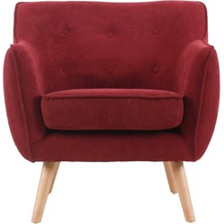 Fauteuil Maestro - Donker rood suedine