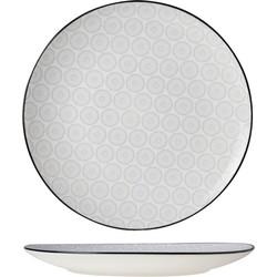 Cosy&Trendy Tavola Grey Dessertbord - Ø 20,5 cm - Set-6