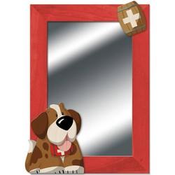 Spiegel Hond Sint Bernard Hout  - Weizenkorn