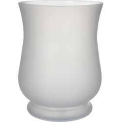 Casa vivante - windlicht louisa glas maat in cm: 35 x 25 wit mat