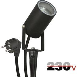 Luxform Onyx tuinspot 230V - zwart