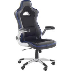 Bureaustoel zwart/blauw in hoogte verstelbaar MASTER