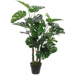 Mica Decorations Kunstplant Monstera in Pot Rubber Groen - 100 x Ø75 cm
