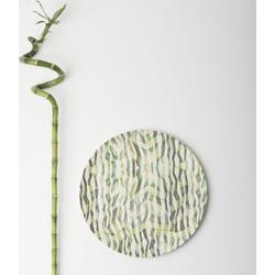 Plate Bamboo Grass Stem