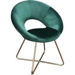 Kick fauteuil Coco Groen - Goud frame