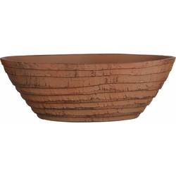 Mica Decorations schaal ovaal lloyd maat in cm: 45x22x14 terra