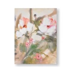 Graham & Brown Tropic Blooms Painted Canvas, Brown