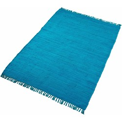 Teppich, »Handweb Uni«, handgewebt, reine Baumwolle, Home affaire Collection