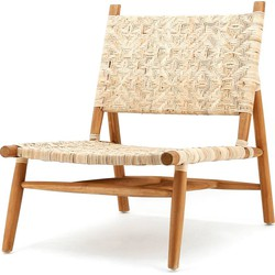BY-BOO Cane Fauteuil - Rotan Zitting - Teakhouten Frame