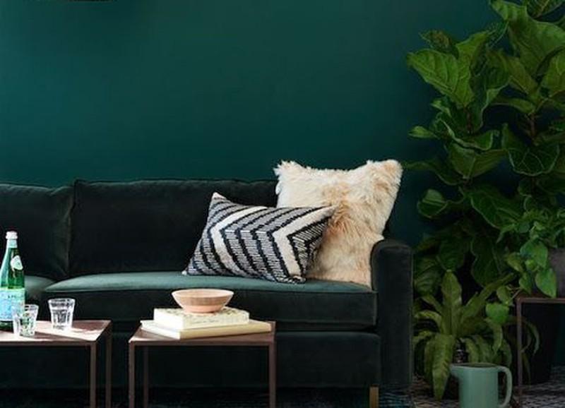 Groen In Woonkamer : Interieurs met een groene muur alles om van je huis je thuis