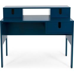 Tenzo UNO Bureau 3-Laden - 105x50x92 - Petrol Blauw