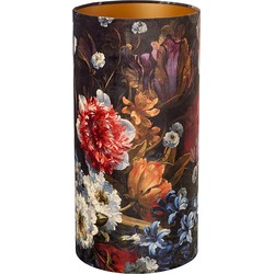 Pols Potten Lampenkap Polyester/PVC Velvet Flowers - 50 x Ø25 cm