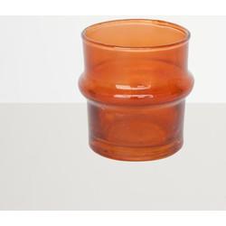 Recycled Handmade Glass Tealightholder - Orange