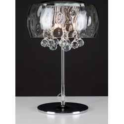 Linea Verdace Tafellamp Ice Clear - H42 Cm - Glas/Chroom