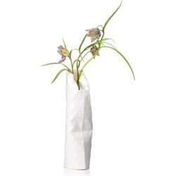 Paper Vase Cover Plain White (small)