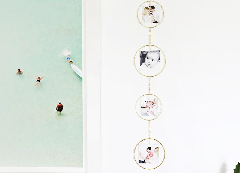 DIY: fotohanger met cirkels