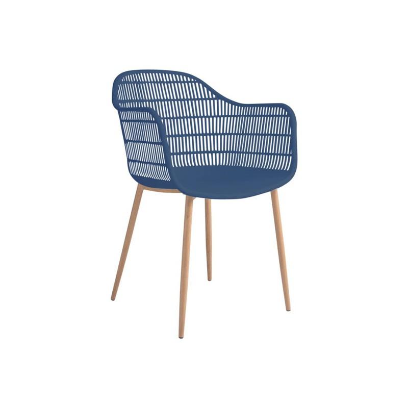 Tamy - Set van 2 stoelen - Blauw -