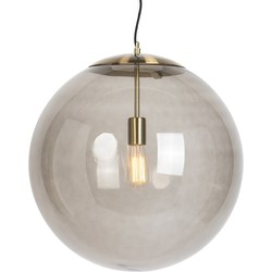 Pendant Lamp Ball 50 Smoke Brass