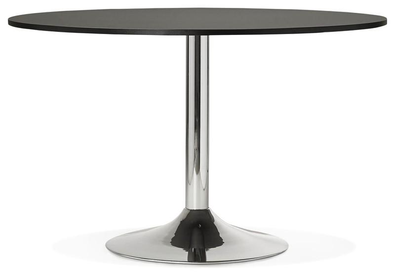 Chromen Novan 24designs Zwart Ronde Tafelblad Tafel Ø120x77 dshCorxtQB