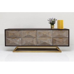 Kare Design Dressoir Triangolo - Hout - RVS