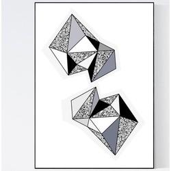 Terrazzo Poster - Geometric Shades of Grey II