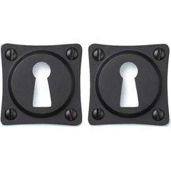 Sleutel Rozet - Vierkant mat zwart