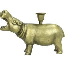 Kersten kandelaar nijlpaard brons