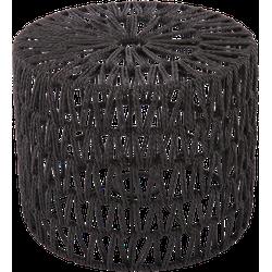 Staande lampenkap Luca cilinder 25 cm zwart