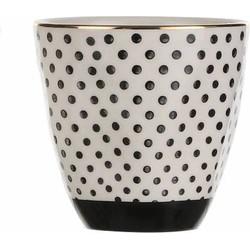 Kitchen Trend Mok Dot Black | 8,5 cm x Ø 9 cm