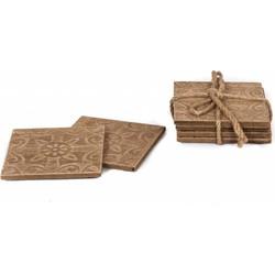 Onderzetters hout set van 4