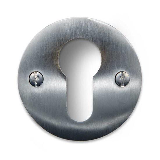 Cilinder Rozet - Rond mat nikkel -