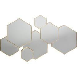 Wandspiegel Hexagon Goud