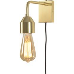 Wandlamp ijzer Madrid goud, S