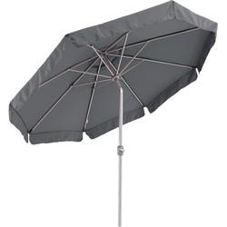 SORARA Palermo Parasol – Grijs - Ø 300 cm - Slinger- en Knikmechanisme – Rond