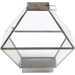 Windlicht Storm - Metall / Glas - Nickel