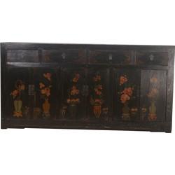 Fine Asianliving Fine Asianliving Antieke Chinees Dressoir Zwart Vaas (1900-1920) - Zhejiang, China