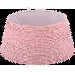 Staande lampenkap jute rope drum 35 cm licht roze