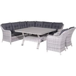 Garden Impressions - Nova lounge dining set 6-delige grijs