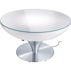 Moree - Ronde Salontafel Lounge - Hoogte 45 Cm Outdoor - Wit