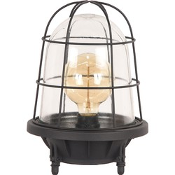LABEL51 - Tafellamp Seal 22x22x31 cm - Industrieel - Zwart