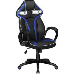 24Designs GameRacer Bureaustoel & Gamestoel - Kunstleer - Zwart/Blauw