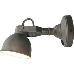 LABEL51 - Led Wandlamp Bow 11x22x14 cm l M - Industrieel - Grijs