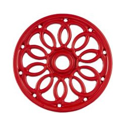 Linea Cast Iron Trivet, Red, Red